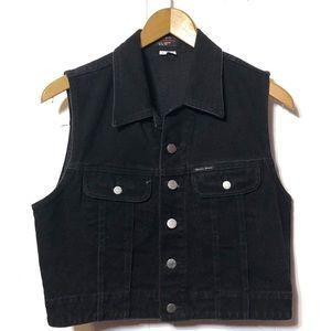 Vintage Guess Black Jean Vest